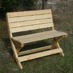 "Folding Bench - Our benches are approximately 40"" wide, and are very comfortable."