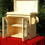 Camp Kitchen, this one comes with an upper storage area and one internal shelf. Wired back and double wired doors