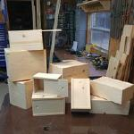 We are a custom wood builder. We can build just about anything that you could use in the field. Here is a random offering of small wooden boxes.