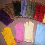 We stock ladies gloves in a wide array of colors and trim.